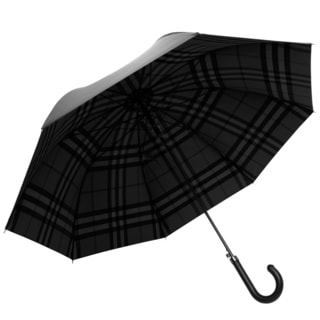 Burberry Solid to Check Walking Umbrella