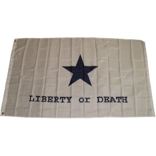 Super Polyester Goliad Battle 'Liberty or Death' Flag (3' x 5')