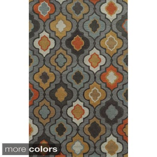 Rizzy Home Floral Tan Bradberry Downs 100-percent Wool Hand-Tufted Accent rug (9' x 12')