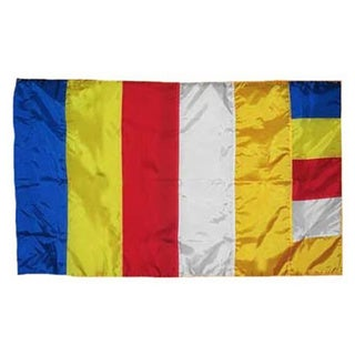 Super Polyester Buddhist Indoor/ Outdoor Flag (3' x 5')