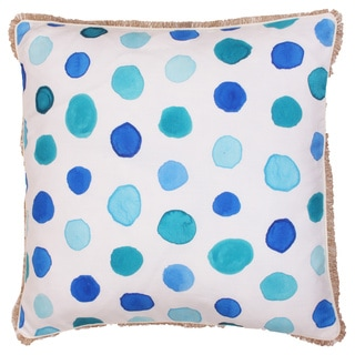 Mindy Polka Dot Feather Filled 20-inch Throw Pillow