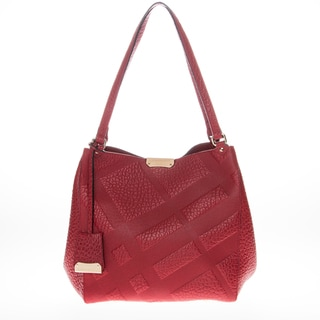Burberry Small Canter in Embossed Check Leather