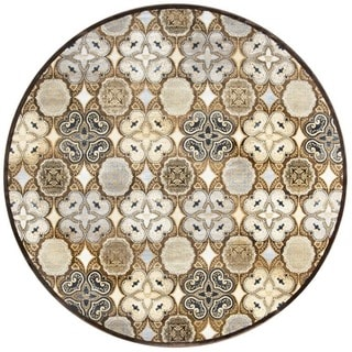Rizzy Home Geometric Blue Bennington Collection Beige Accent Rug (9' 10 x 12' 6)