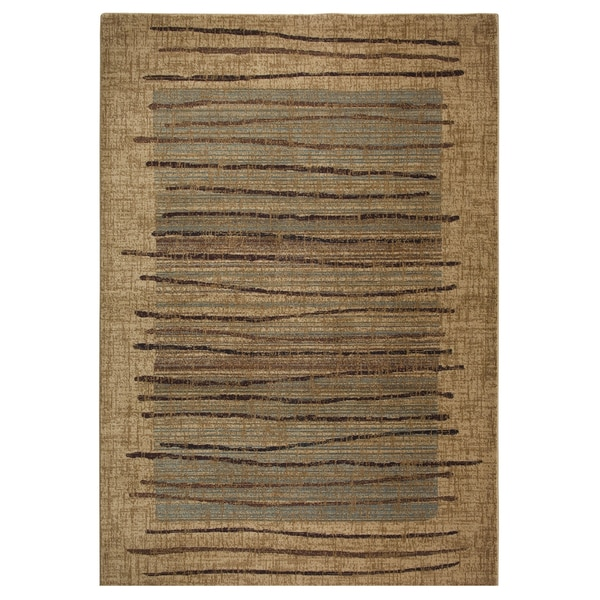 rizzy home stripe beige bellevue collection accent rug 3 39 3 x 5 39 3 17351700. Black Bedroom Furniture Sets. Home Design Ideas