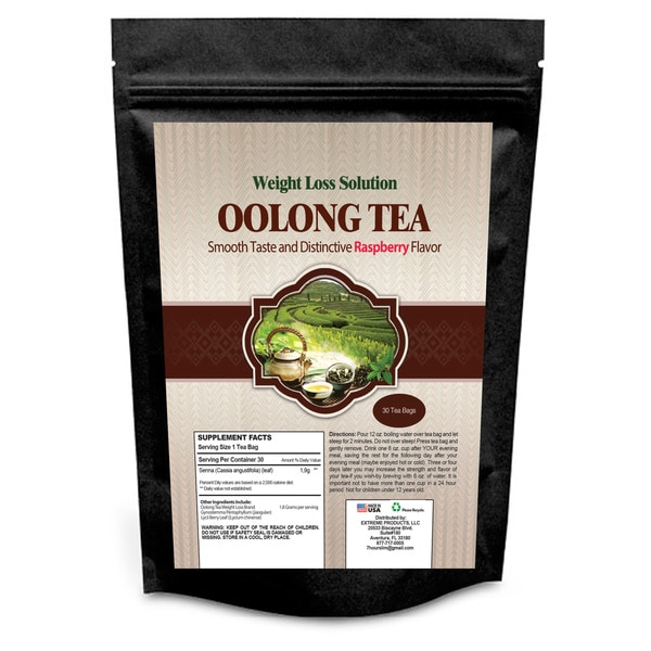 Weight Loss Solution Oolong Raspberry Weight Loss Tea (30 Count)