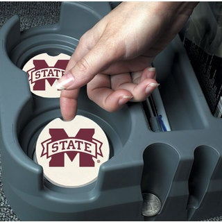 Mississippi State Bulldogs Absorbent Stone Car Coaster (Set of 2)