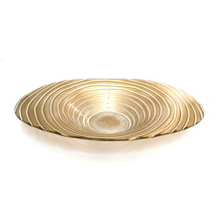 16-inch Gold Ribbon Oval Bowl