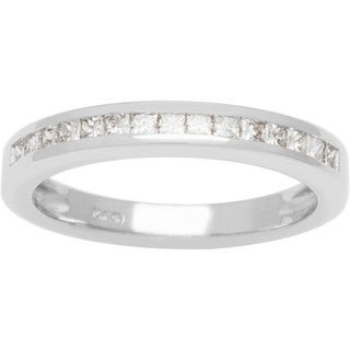 Boston Bay Diamonds Love Lock 14k White Gold 1/3ct TDW Diamond Wedding Band (G-H, SI1-SI2)