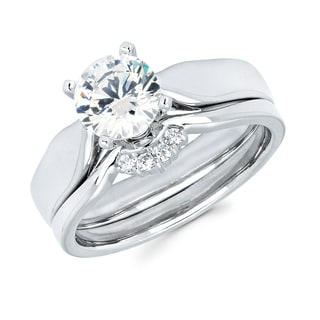 Boston Bay Diamonds 14k White Gold 1ct TDW Diamond Solitaire Engagement Ring (G-H, SI1-SI2)