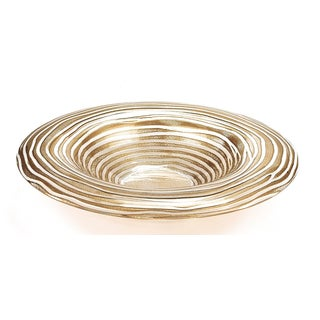 Gold Ribbon Round Bowl 11 inches high x 14-inch diameter