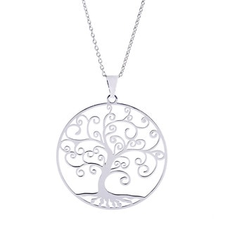 Sterling Essentials Italian Silver 'Tree of Life' Necklace