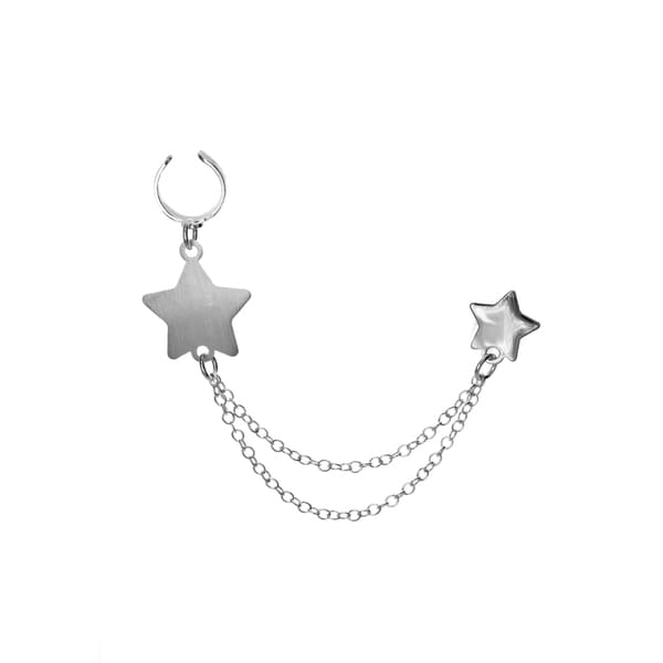 Sterling Essentials Single Silver Star Earring Cuff