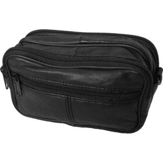 Continental Leather Small Utility Pouch Bag with Belt Loop Strap