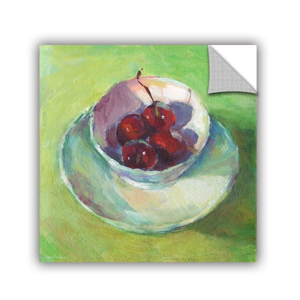 ArtWall Svetlana Novikova ' Cherries In A Cup Impressionist Painting ' Art Appealz Removable Wall Art