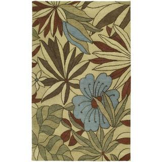 "Handmade Calais Blooming Heights Ecru Wool Rug (9'6"" x 13'0"")"