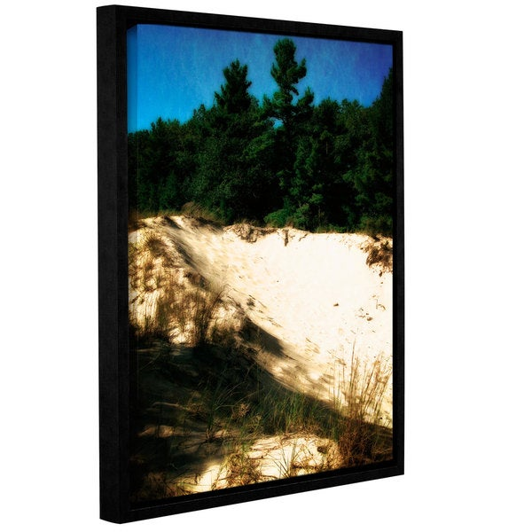 ArtWall Kevin Calkins ' Shadows In The Dunes ' Gallery-Wrapped Floater-Framed Canvas