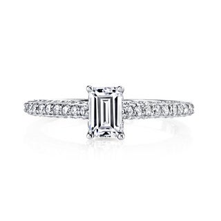 14k White Gold 1ct TDW Emerald-cut Diamond Engagement Ring (H-I, VS1-VS2)