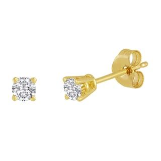 14k Yellow Gold 1/5ct TDW Diamond Stud Earrings (I-J, I2-I3)
