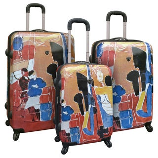 Curtis Publishing 'Our Friend the Sea' 3-piece Expandable Hardside Spinner Luggage Set