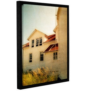 ArtWall Kevin Calkins ' Lighthouse And Beach Grass ' Gallery-Wrapped Floater-Framed Canvas