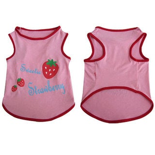 Iconic Pet Pretty Pet Pink Strawberry Top
