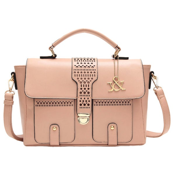 Hue & Ash Flap and Cut Satchel Bag