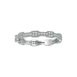 Beverly Hills Charm 10k Gold 1/4ct TDW Diamond Eternity Stackable Band Ring (H-I, I2-I3)