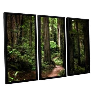 ArtWall Kevin Calkins ' Enchanted Path 3 Piece Floater Framed Canvas Set