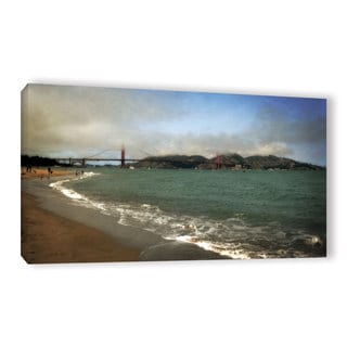 ArtWall Kevin Calkins ' East Beach And Golden Gate ' Gallery-Wrapped Canvas