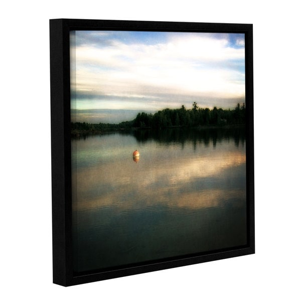 ArtWall Kevin Calkins ' Buoy On The Bayou ' Gallery-Wrapped Floater-Framed Canvas