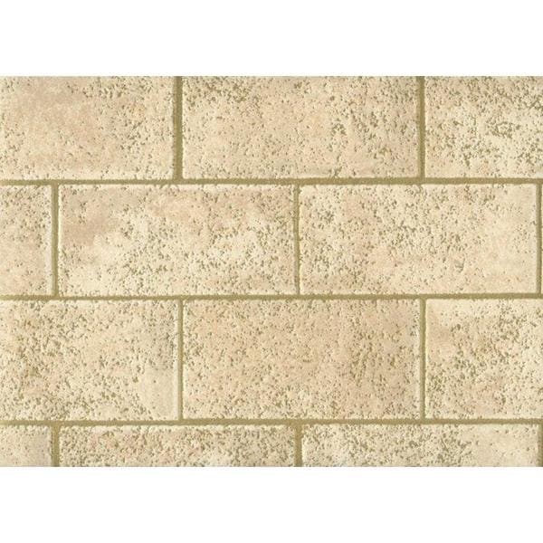 Beige Gold Bricks Wallpaper Double Roll