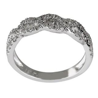 14k White Gold 5/8ct TDW Cognac Diamond Ring (G-H, I1-I2)