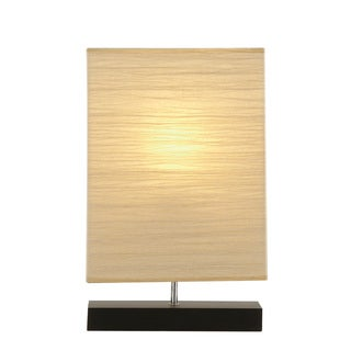 20-inch Black Wood Table Lamp