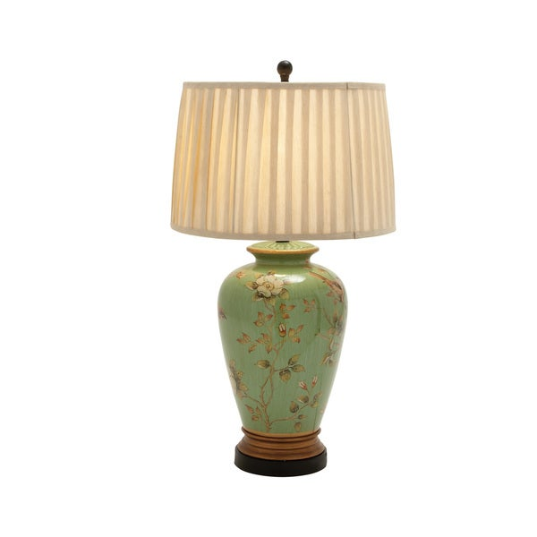 Green ceramic table lamp 17354580 overstock com shopping great