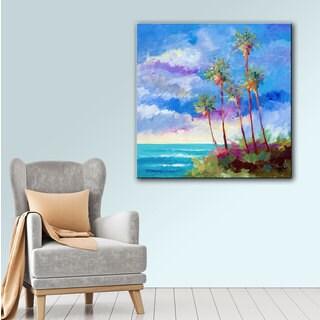ArtWall Bill Drysdale ' Laguna Palms ' Gallery-Wrapped Canvas