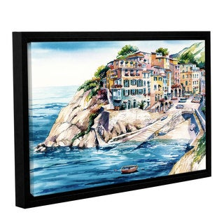 ArtWall Bill Drysdale ' Cinque Terra ' Gallery-Wrapped Floater-Framed Canvas