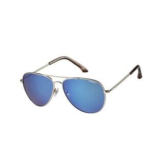 O'Neill Women's Vita Polarized Silver/ Blue Aviator Sunglasses