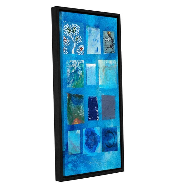 ArtWall Elena Ray ' Blue Tree Collage ' Gallery-Wrapped Floater-Framed Canvas 15578185
