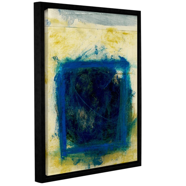 ArtWall Elena Ray ' Blue Squares  ' Gallery-Wrapped Floater-Framed Canvas 15578188
