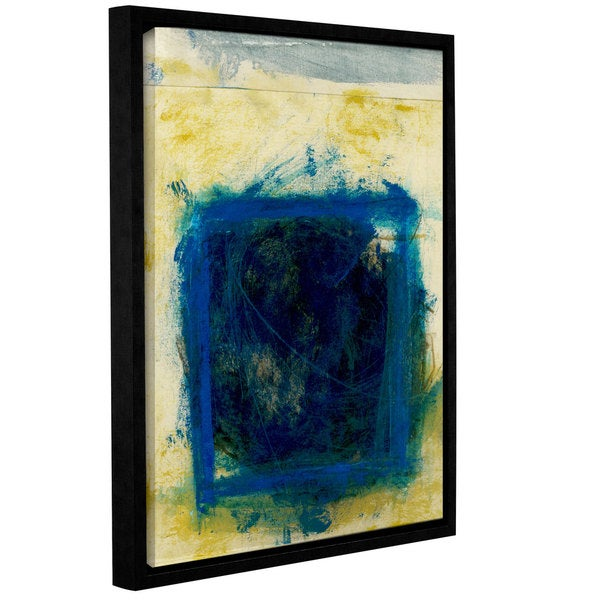 ArtWall Elena Ray ' Blue Squares  ' Gallery-Wrapped Floater-Framed Canvas 15578189