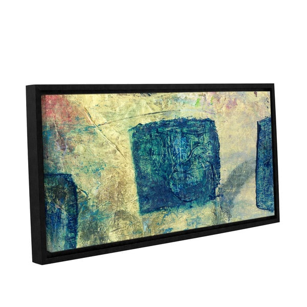 ArtWall Elena Ray ' Blue Golds ' Gallery-Wrapped Floater-Framed Canvas 15578193