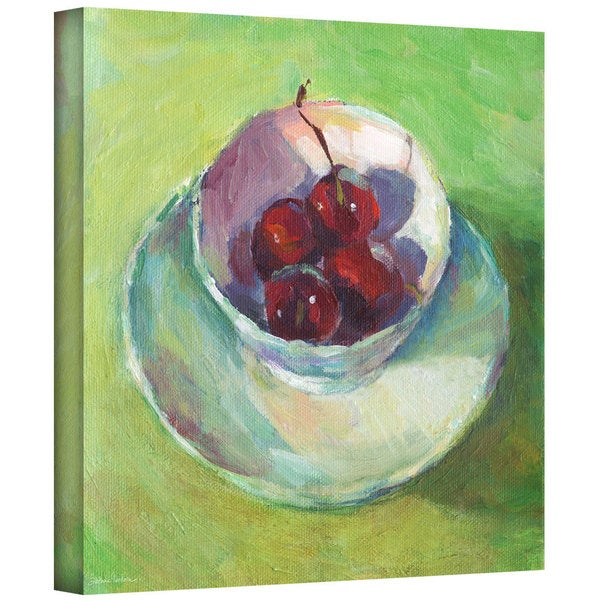 ArtWall Svetlana Novikova ' Cherries In A Cup Impressionist Painting ' Gallery-Wrapped Canvas