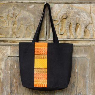Cotton 'Lanna Summer' Tote Bag (Thailand)