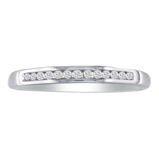 10k White Gold 1/8ct TDW Channel-set Diamond Wedding Band (I-J, I2-I3)