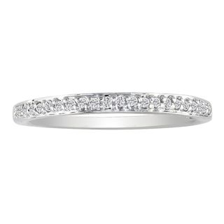 10k White Gold 1/10ct TDW Diamond Micro Pave Wedding Band (I-J, I2-I3)