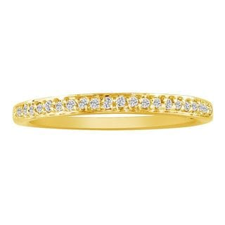 10k Yellow Gold 1/10ct TDW Micropave Diamond Band (I-J, I2-I3)