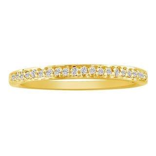 10k Yellow Gold 1/10ct TDW Micropave Diamond Wedding Band (I-J, I2-I3)