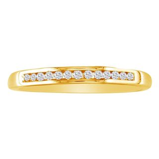 10k Yellow Gold 1/8ct TDW Channel-set Diamond Skinny Wedding Band (I-J, I2-I3)