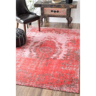 nuLOOM Traditional Vintage Cotton Chenille Fancy Rug (8' x 10')