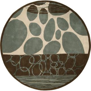 Rug Squared Jericho Multicolor Round Rug (5'9 x 5'9)